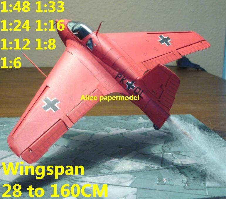 WWII German Germany jet fighter me-163 me163 me262 me-262 aircraft biplane  big large scale size plane flight model models soldier pilot scene for sale