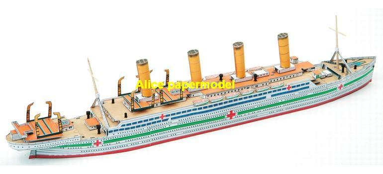 HMHS Britannic UK White Star Line Olympic titanic class luxury Costa MSC NCL Royal caribbean Princess passenger liner cruise big large scale size ship sailing boat model models cargo container tanker bulk freighter cruiser tugboat Ferry Sailboat papercraft Military army Soldiers Barbie doll model scene paper on for sale store shop