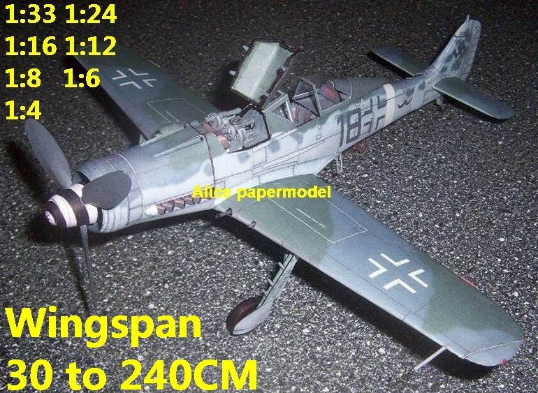 WWII German fighter Messerschmitt FW190 FW-190 D9 aircraft biplane big large scale size plane flight model models soldier pilot scene for sale store shop