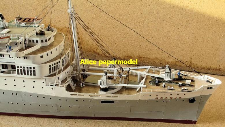Dutch Royal Mail ms Oranje luxury yacht Costa NCL MSC Royal caribbean Princess ferry bulk freighter cruiser vessels ship big large scale size ship sailing boat models model passenger liner cruise cargo container tanker cruiser tugboat Sailboat Ferry papercraft Military army Soldiers Barbie doll model scene paper on for sale store shop