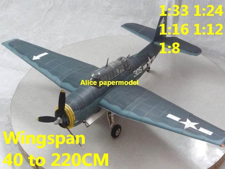 WWII US fighter TBM3 TBM-3 Avenger torpedo bomber aircraft biplane big large scale size plane flight model models soldier pilot scene for sale shop store