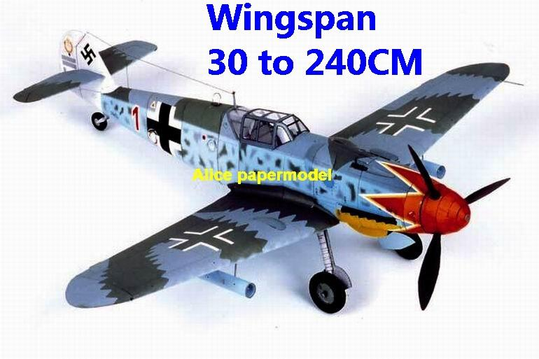 WWII German fighter Messerschmitt Bf 109 BF-109 G aircraft biplane big large scale size plane flight model models soldier pilot scene for sale store shop
