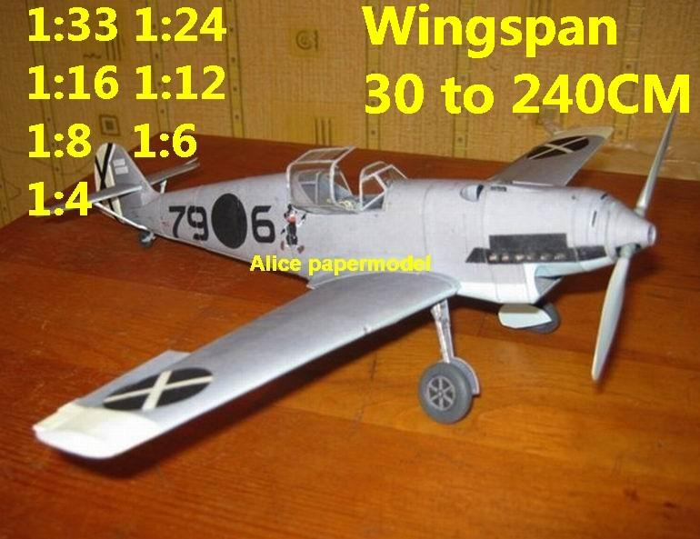 WWII German fighter Messerschmitt Bf-109 Bf 109 D aircraft biplane big large scale size plane flight model models soldier pilot scene for sale store shop (Copy)