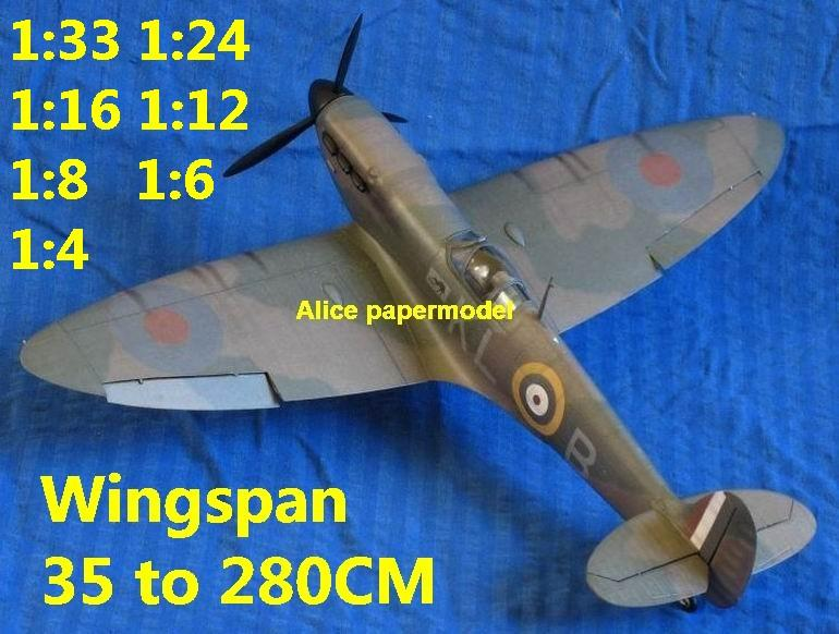 1:48 1:33 1:24 1:16 1:12 1:8 1:6 WWII UK United Kingdom fighter Spitfire Mk I aircraft bomber biplane big large scale size plane flight model models soldier pilot scene for sale shop store