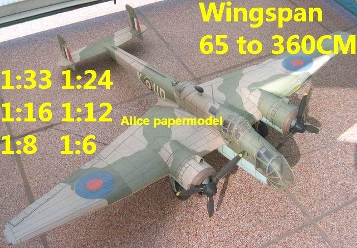 1:48 1:33 1:24 1:16 1:12 1:8 1:6 WWII UK United Kingdom fighter Handley Page Hampden TB-1 bomber aircraft biplane big large scale size plane flight model models soldier pilot scene for sale shop store