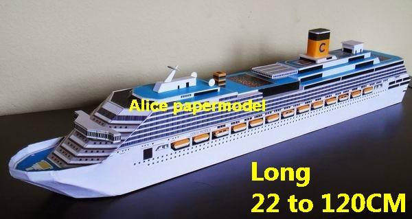luxury yacht Costa NCL MSC Royal caribbean Princess passenger liner cruise big large scale size ship sailing boat model models cargo container tanker bulk freighter cruiser tugboat Ferry Sailboat papercraft Military army Soldiers Barbie doll model scene paper on for sale shop store