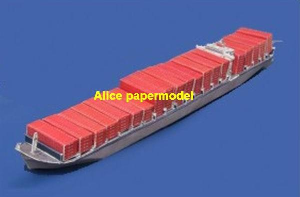 Japan kline Full Container Ship heavy load carrier cruiser bulk freighter vessels ship big large scale size ship sailing boat models model passenger liner cruise cargo container tanker cruiser tugboat Sailboat Ferry papercraft Military army Soldiers Barbie doll model scene paper on for sale store shop