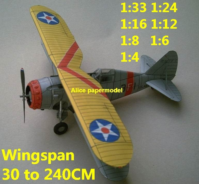 WWII fighter Grumman F3F aircraft biplane big large scale size plane flight model models soldier pilot scene for sale store shop