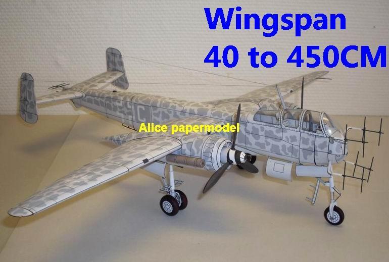 WWII German fighter Heinkel He 219 He-219 aircraft biplane big large scale  size plane flight model models soldier pilot scene for sale store shop