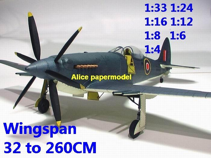 1:48 1:33 1:24 1:16 1:12 1:8 1:6 WWII UK United Kingdom fighter Supermarine Seafang F.32 aircraft bomber biplane big large scale size plane flight model models soldier pilot scene on sale shop store