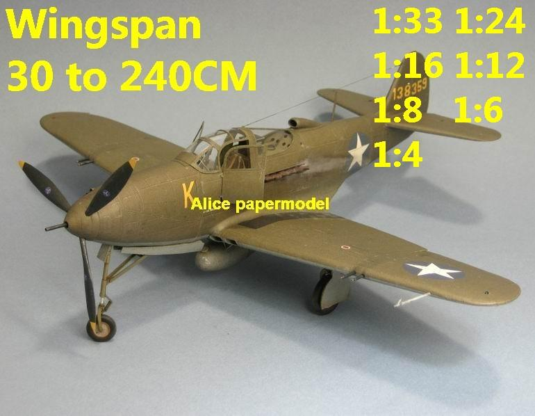 WWII US fighter Bell P-39D P-39 P39 Airacobra aircraft biplane big large scale size plane flight model models soldier pilot scene for sale shop store
