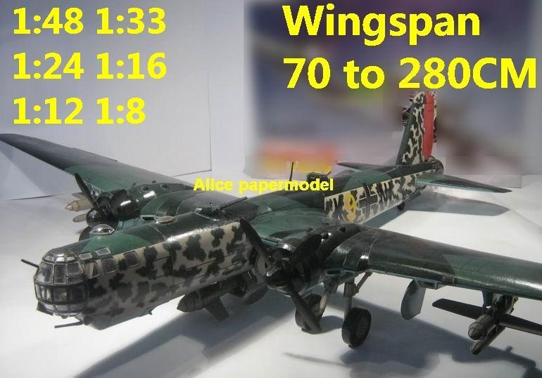 WWII German fighter Heinkel He177 He-177 military transport bomber aircraft biplane big large scale size plane flighter model models soldier pilot scene for sale shop store