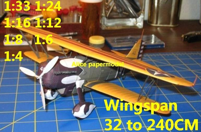 WWII US fighter Curtiss P6 P-6 P-6E Hawk aircraft biplane big large scale size plane flight model models soldier pilot scene for sale shop store
