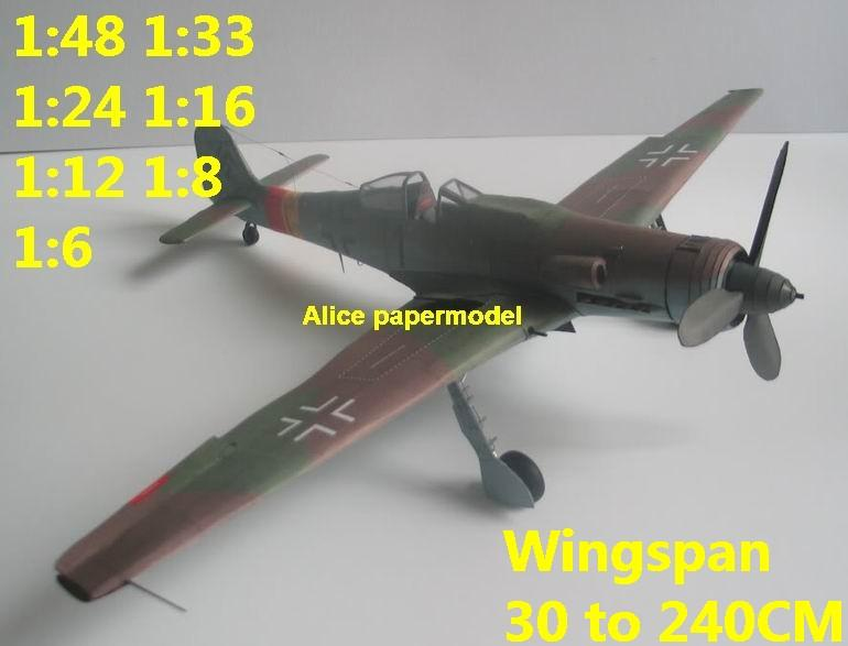 WWII German fighter Focke Wulf FW TA 152 TA-152 aircraft biplane big large scale size plane flight model models soldier pilot scene for sale store shop