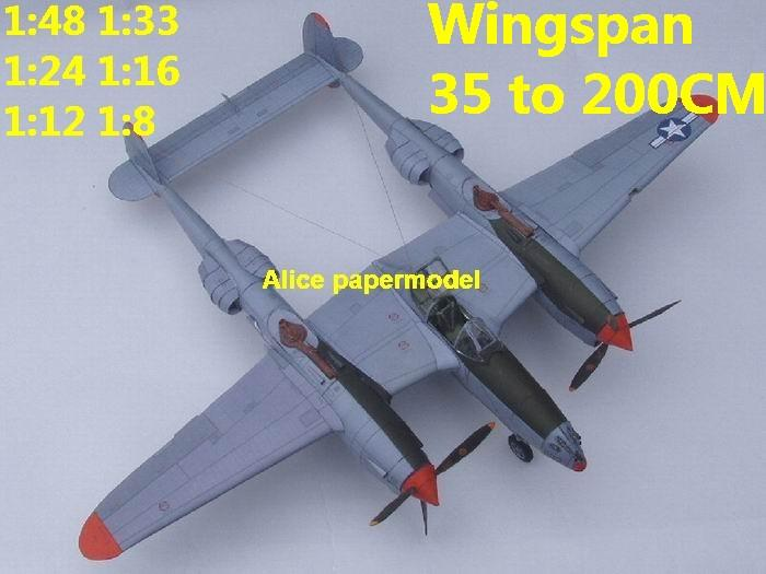 WWII US fighter P38 P-38 P-38J Lightning aircraft biplane big large scale size plane flight model models soldier pilot scene for sale shop store