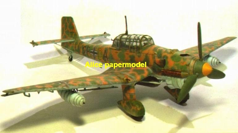 WWII German fighter Junkers Ju87 Ju-87 R-2 Stosser aircraft biplane big large scale size plane flight model models soldier pilot scene for sale store shop