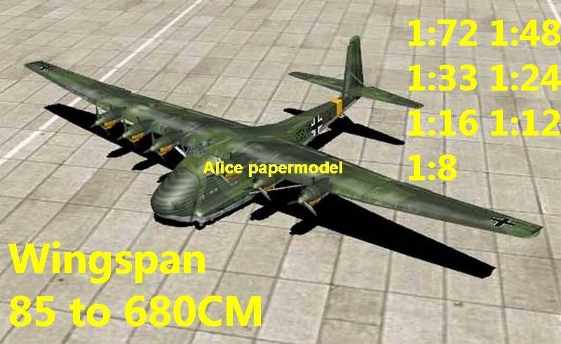 WWII German fighter Messerschmitt Gigant Me-323 Me323 bomber aircraft biplane large big scale size plane flighter model models soldier pilot scene for sale shop store