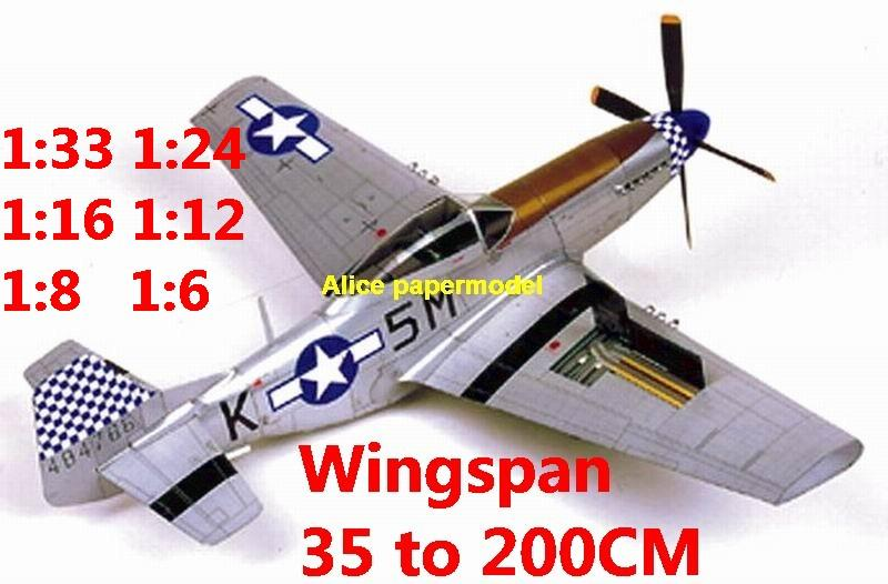 WWII US fighter P-51 P-51D P51 P51D Mustang aircraft biplane big large scale size flight plane model models soldier pilot scene for sale store