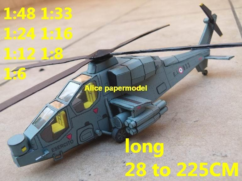 Italy A-129 A129 Agusta Mangusta helicopter fighter bomber military transport aircraft biplane big large scale size plane flight model models soldier pilot scene for sale shop store