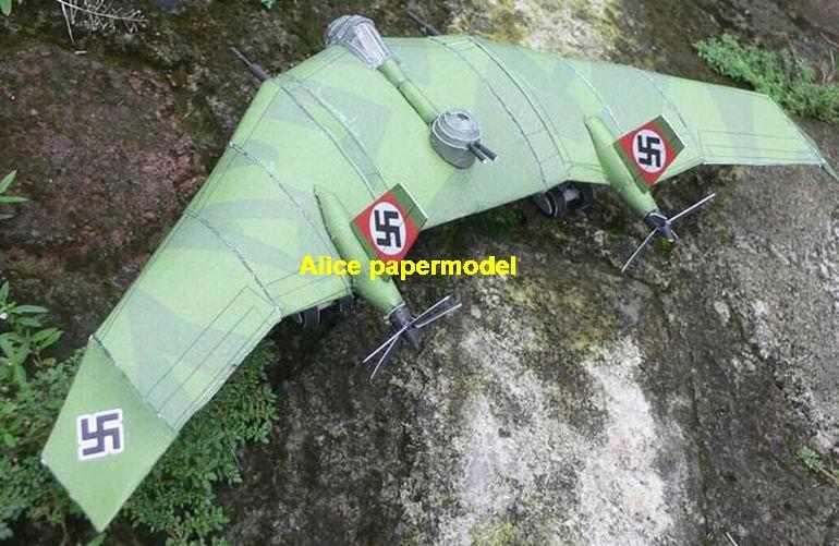 1:72 1:48 1:33 1:24 1:18 1:16 1:12 1:8 scale WWII German fighter Messerschmitt BV38 BV-38 bomber Flying Wing bomber aircraft biplane large big scale size plane flighter model models soldier pilot scene for sale shop store