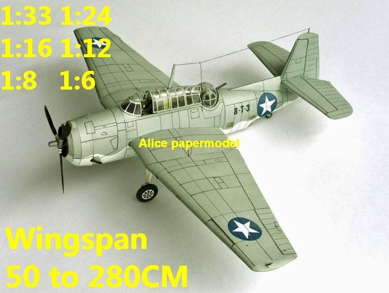WWII US fighter TBM TBM-3 Avenger torpedo bomber aircraft biplane big large scale size plane flight model models soldier pilot scene for sale shop store