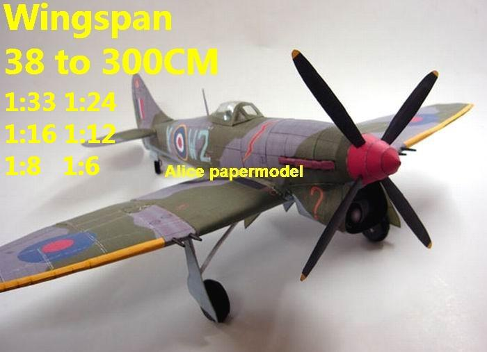 1:48 1:33 1:24 1:16 1:12 1:8 1:6 WWII UK United Kingdom fighter Hawker Tempest MkV aircraft bomber biplane big large scale size plane flight model models soldier pilot scene for sale shop store