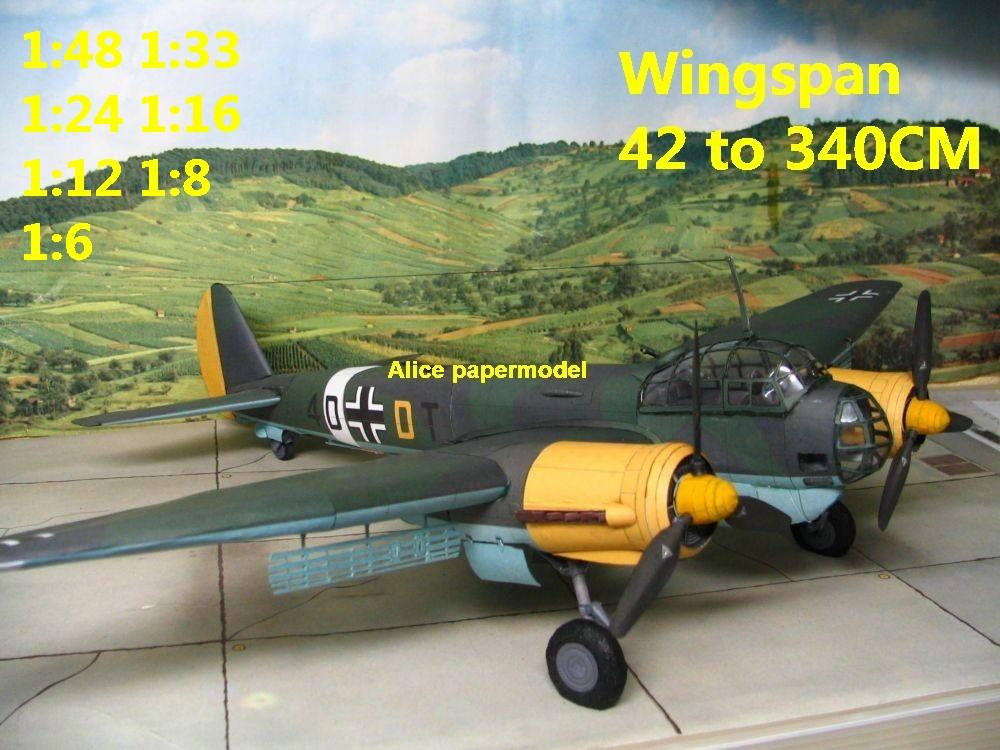 WWII German fighter Junker Ju-88 Ju88 bomber aircraft biplane big large scale size plane flighter model models soldier pilot scene on sale shop store