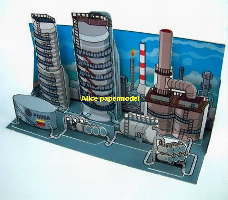 Oil Chemical Plant factory Sailboat bulk freighter Ferry tugboat cargo Container paper models