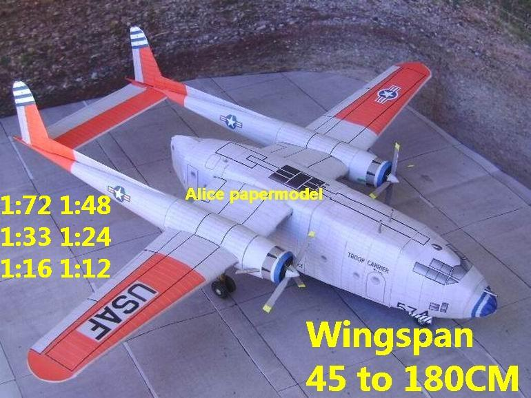 1:72 1:48 1:33 1:24 1:18 1:16 1:12 WWII US Fairchild C119 C-119 Flying Boxcar airliner fighter bomber military transport aircraft biplane big large scale size plane flight model models soldier pilot scene for sale shop store