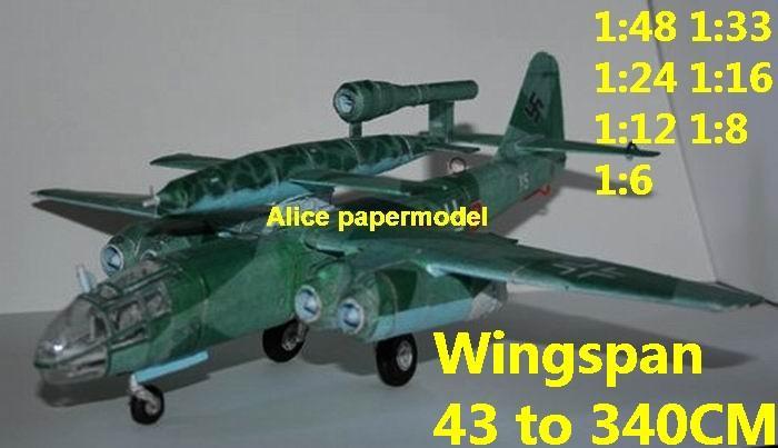 WWII German fighter Arado-234 Arado 234 V1 V-1 rocket bomber aircraft biplane big large scale size plane flighter model models soldier pilot scene on sale shop store