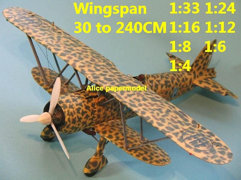 1:48 1:33 1:24 1:16 1:12 1:8 1:6 1:4 WWII Italy Fiat CR.42 Fiat CR42 bomber aircraft biplane big large scale size plane flight model models soldier pilot scene for sale shop store