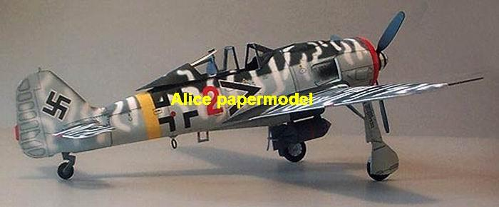 WWII German fighter Messerschmitt FW-190 F-8 FW190 F8 aircraft biplane big large scale size plane flight model models soldier pilot scene for sale store shop