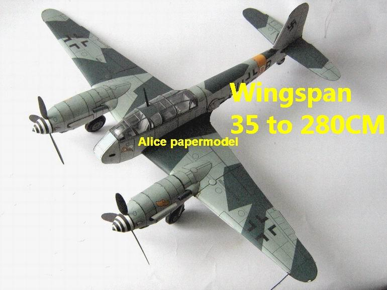 WWII German night heavy fighter Messerschmitt Me 410 Me-410 aircraft biplane big large scale size plane flighter model models soldier pilot scene on sale shop store