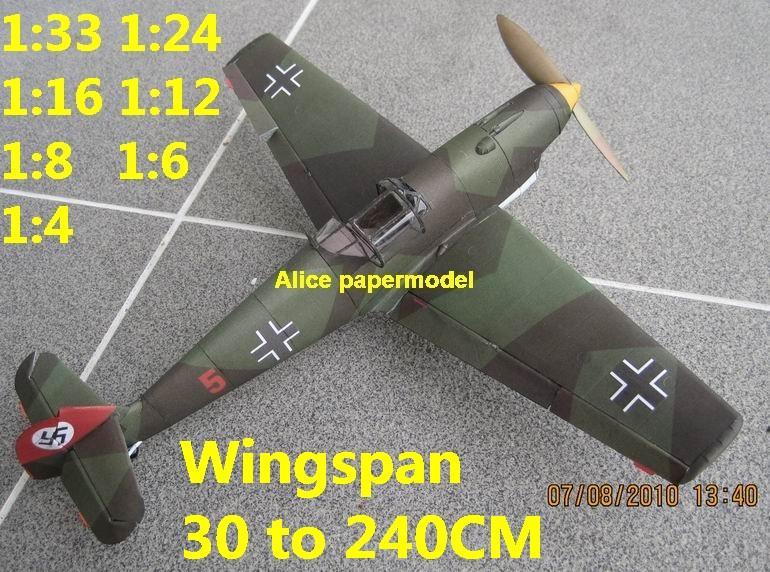WWII German fighter Messerschmitt Bf-109 Bf 109 B aircraft biplane big large scale size plane flight model models soldier pilot scene for sale store shop