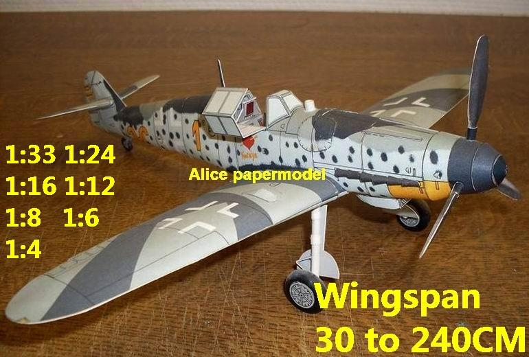WWII German fighter Messerschmitt Bf-109 Bf 109 G6 aircraft biplane big large scale size plane flight model models soldier pilot scene for sale store shop