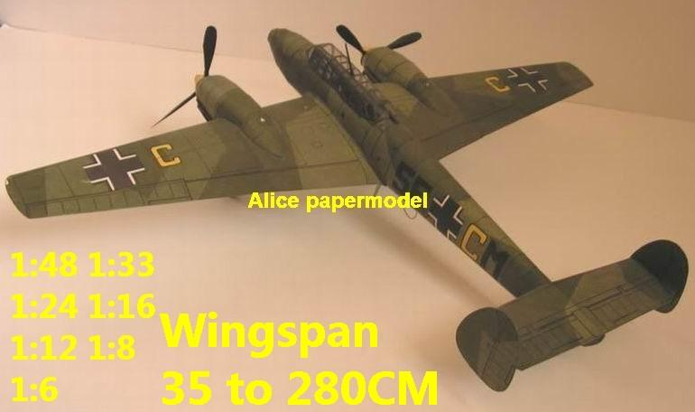 WWII German night heavy fighter Messerschmitt Bf 110 Bf-110 aircraft biplane big large scale size plane flighter model models soldier pilot scene for sale shop