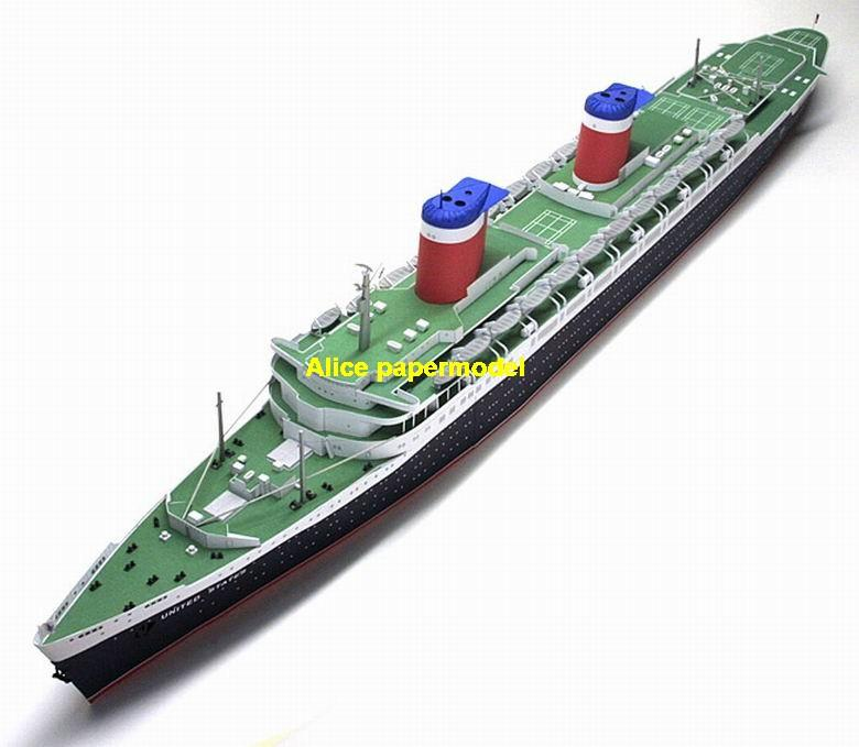 Liner SS United States yacht Costa NCL MSC Royal caribbean passenger liner cruise big large scale size ship sailing boat model models cargo container tanker bulk freighter cruiser tugboat Ferry Sailboat papercraft Military army Soldiers Barbie doll model scene paper on for sale store shop