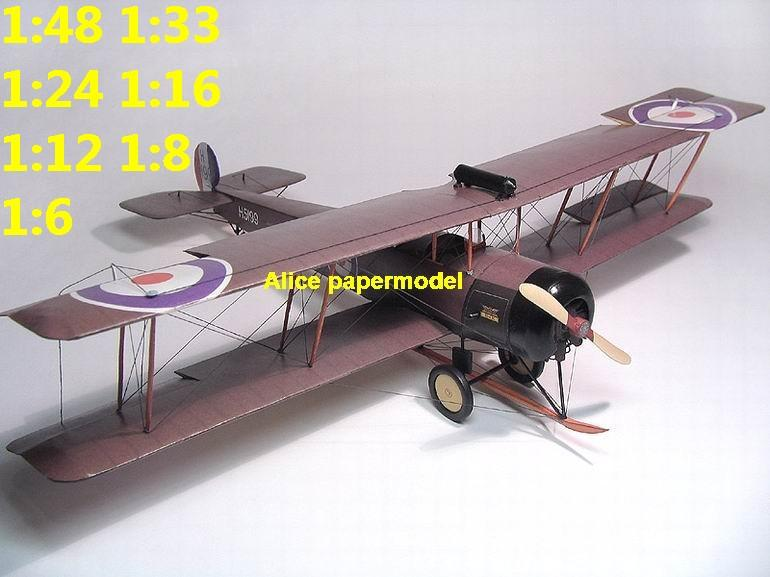 1:48 1:33 1:24 1:18 1:16 1:12 1:8 1:6 1:4 World War I WWI Imperial British England UK Avro 504 504K Red Baron The Red Baron sesquiplane vintage biplane jet fighter helicopter bomber military transport aircraft big large scale size plane flight model models soldier pilot scene for sale store shop
