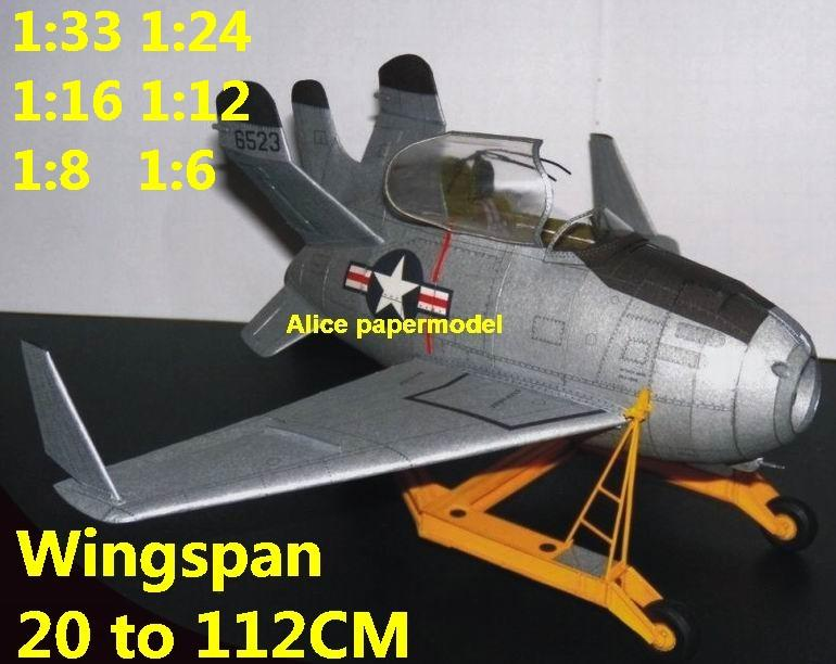 1:48 1:33 1:24 1:18 1:16 1:12 1:8 1:6 USAF US McDonnell XF-85 XF85 Goblin interceptor prototype jet fighter helicopter bomber military transport aircraft biplane big large scale size plane flight model models soldier pilot scene on sale shop store