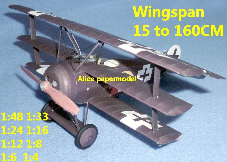 1:48 1:33 1:24 1:18 1:16 1:12 1:8 1:6 1:4 World War I WWI Imperial German Germany Fokker DrI Dr.I Red Baron The Red Baron triplane vintage biplane jet fighter helicopter bomber military transport aircraft big large scale size plane flight model models soldier pilot scene for sale store shop