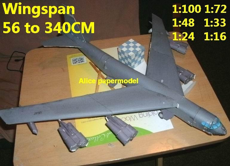 1:100 1:72 1:48 1:33 1:24 1:18 1:16 US USAF B-52 B52 B-52H B52H Stratofortress heavy bomber jet fighter helicopter military transport aircraft biplane big large scale size plane flight model models soldier pilot scene on sale store shop