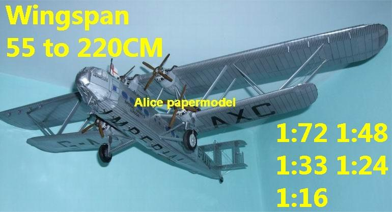 1:48 1:33 1:24 1:18 1:16 1:12 1:8 1:6 1:4 Imperial British England Handley Page HP42 HP45 vintage airliner biplane jet fighter helicopter bomber military transport aircraft big large scale size plane flight model models soldier pilot scene for sale shop store