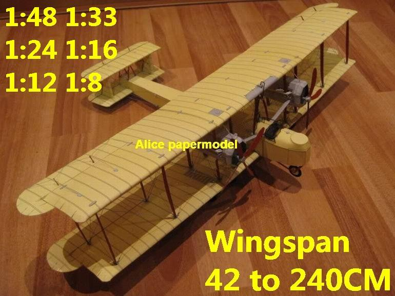 1:48 1:33 1:24 1:18 1:16 1:12 1:8 1:6 World War I WWI Imperial UK Vickers  Vimy vintage biplane jet fighter helicopter bomber military transport