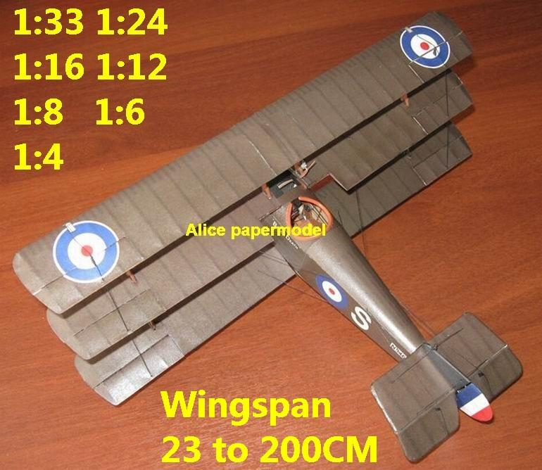 1:48 1:33 1:24 1:18 1:16 1:12 1:8 1:6 1:4 World War I WWI Imperial British England UK Sopwith Triplane Red Baron The Red Baron sesquiplane vintage biplane jet fighter helicopter bomber military transport aircraft big large scale size plane flight model models soldier pilot scene for sale shop store