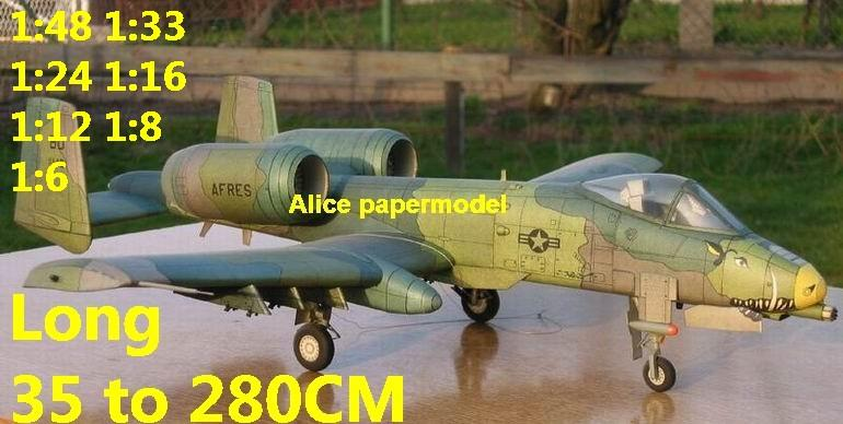 1:48 1:33 1:24 1:18 1:16 1:12 1:8 1:6 US USAF Fairchild Republic A-10 A10 Thunderbolt II Warthog jet fighter bomber helicopter military transport aircraft biplane big large scale size plane flight model models soldier pilot scene for sale store shop