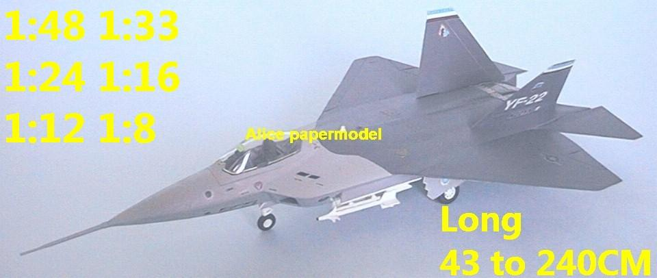 1:48 1:33 1:24 1:18 1:16 1:12 1:8 1:6 US Lockheed Boeing General Dynamics YF-22 YF22 F-22 stealth prototype jet fighter helicopter bomber military transport aircraft biplane big large scale size plane flight model models soldier pilot scene for sale shop store