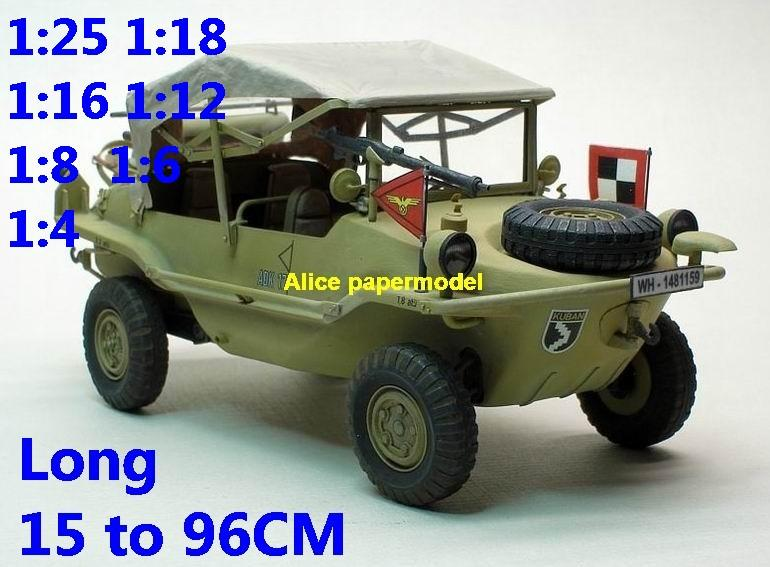 1:25 1:18 1:16 1:12 1:8 1:6 1:4 scale WWII World War II WW2 German Germany VW Type 128 166 Volkswagen Schwimmwagen willys willy jeep tank armoured car half track half-track SAM missle launcher launches artillery truck MBT main battle armored vehicle vehicles military army train big large scale size car model models soldier soldiers scene on for sale shop store