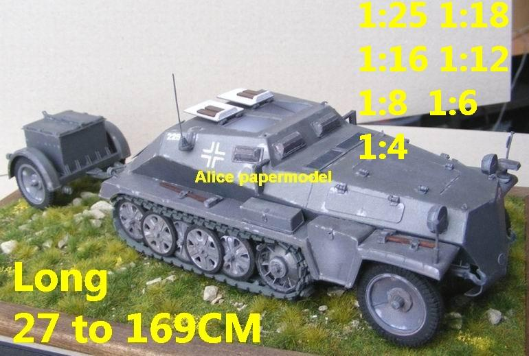 1:35 1:25 1:18 1:16 1:12 1:8 1:6 1:4 scale WWII World War II WW2 German Germany Sdkfz 252 Sd. Kfz. 252 Hanomag half-track half track tank missle launcher artillery truck MBT main battle jeep armored vehicle vehicles military army big large scale size car model models soldier soldiers scene for on sale shop store