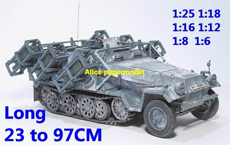 1:25 1:18 1:16 1:12 1:8 1:6 scale WWII World War II WW2 German Germany Hanomag Sd.Kfz. 251 Sonderkraftfahrzeug 251 SdKfz 251 half-track half track tank SAM missle launcher launches artillery truck MBT main battle jeep armored vehicle vehicles military army train big large scale size car model models soldier soldiers scene for on sale shop store