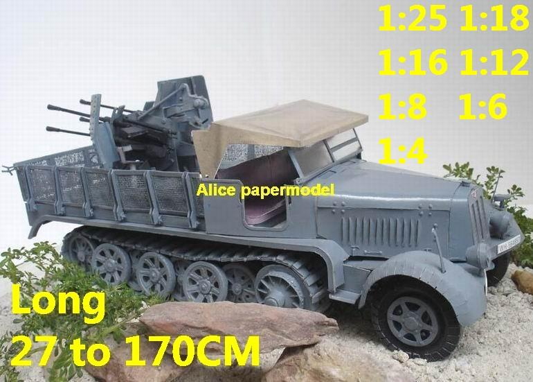 1:35 1:25 1:18 1:16 1:12 1:8 1:6 1:4 scale WWII World War II WW2 German Germany Sd.kfz. 7-1 Sdkfz 7 anti air gun tank artillery truck MBT main battle jeep armored vehicle vehicles military army train big large scale size car model models soldier soldiers scene for on sale store shop